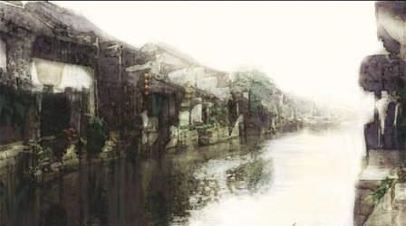 江南水乡--淡彩水墨画的电脑制作过程 - 中国和