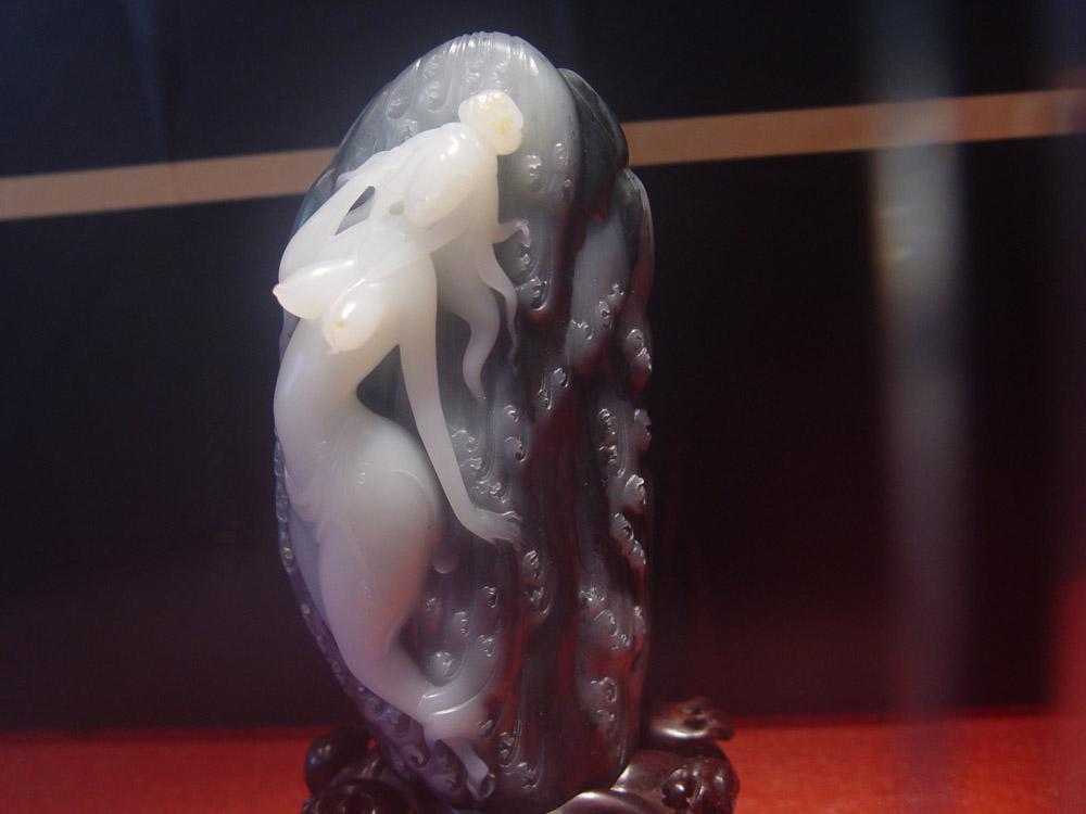 崔磊观音玉雕作品图片